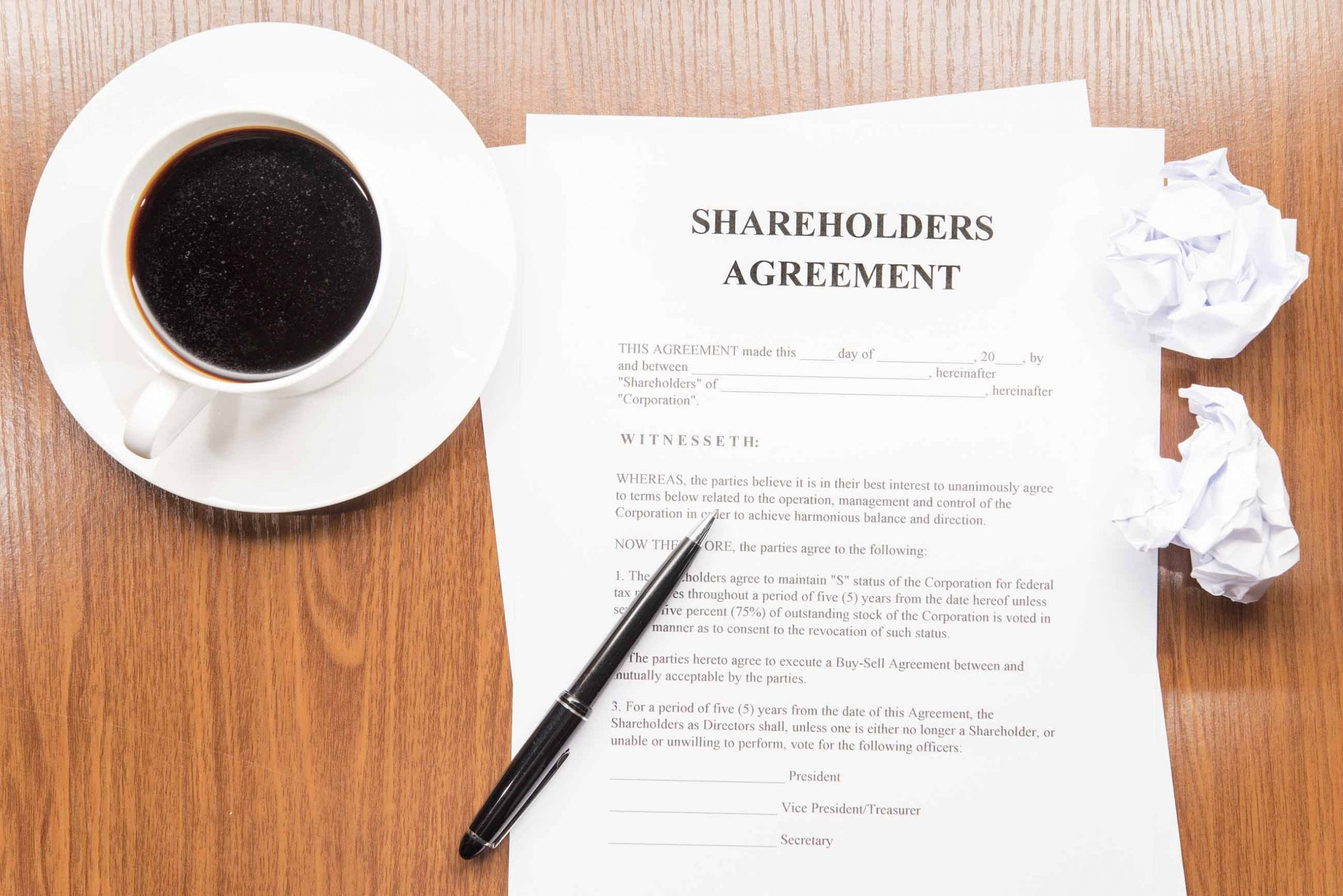 5 Reasons Why Your Company Needs a Shareholders Agreement