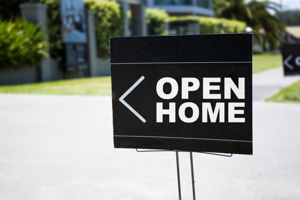 Open Home Sign